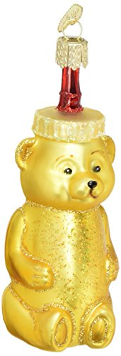 Old World Christmas Honey Bear Glass Blown Ornament, fun bee ornaments for christmas