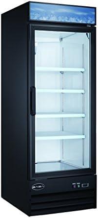 Single Glass Door Reach-In Refrigerator Cooler Merchandiser Display Case