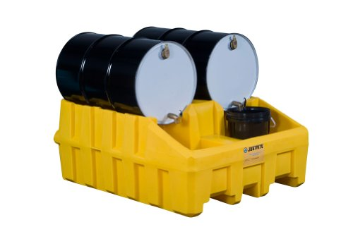 Justrite Drum Cradle System - Base Module - 48X59x26'' - Yellow - Yellow by Gator
