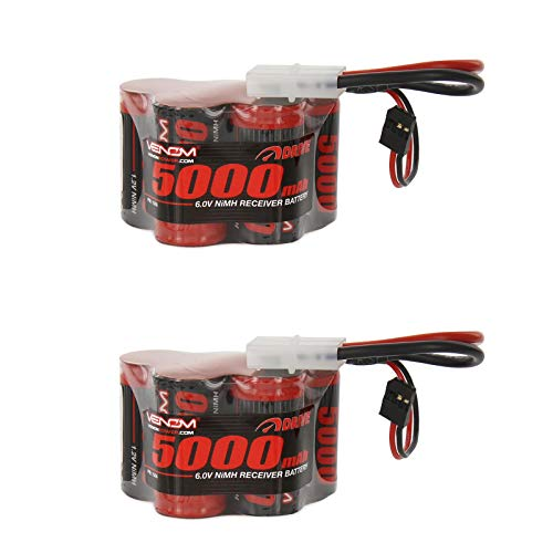 Venom 6v 5000mAh 5-Cell Hump Receiver NiMH Battery for HPI Baja x2 -