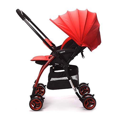 Lightweight Baby Stroller with Reversible Handle, Easy Foldable and Collapsible Red