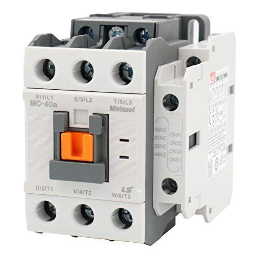 - Baomain AC Contactor MC-40a 110VAC 50/60Hz MEC Magnetic Contactor 1a1b DIN Rail UL
