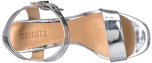 Schutz Womens Rhenda Platform Dress Sandal Prata