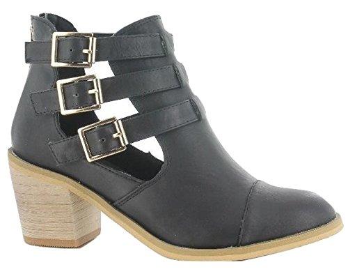 Botines para mujeres, color Negro (Black), talla 41 EU: Amazon.es: Zapatos y complementos