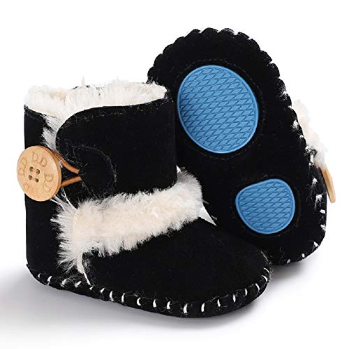 Pictures of Fnnetiana Baby Winter Buttons Snow Boots Warm 3