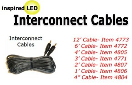 Includes 10 cables with clamps and extenders Cable Super Pack Inspired LED