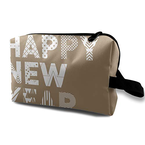 (LEIJGS Happy New Year (2) Small Travel Toiletry Bag Super Light Toiletry Organizer for Overnight Trip)