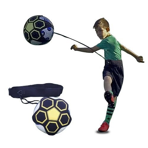 SoloKICK Soccer Trainer – Soccer and Football Kick and Throw Trainer for Solo Follow. Training Aid helps Control Skills Adjustable Waist Belt – DiZiSports Store