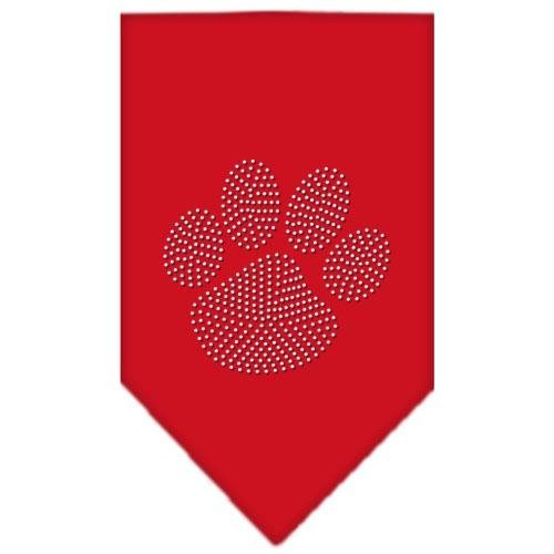 Mirage Pet Products Paw Clear Rhinestone Bandana, Small, Red
