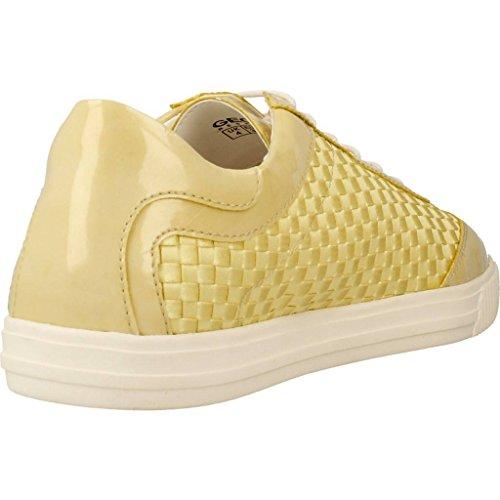 Geox D Amalthia B - Zapatillas para mujer Amarillo