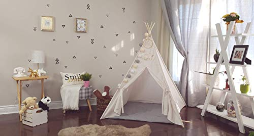 (The Teepee Store Ivory Canvas Outside Pole's Sleeves Kids Teepee Tent (3 SIZES available, 4 1/2 feet) Play Tents Fort Toddler Playhouse Kid Bedroom Furniture Decor Quiet Baby Place Toys for Boys)