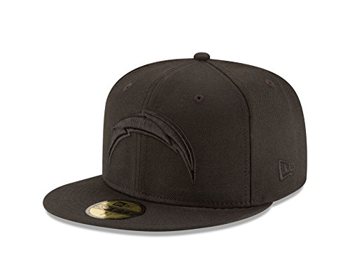New Nfl San Diego Chargers - NFL San Diego Chargers Men's Black On Black 59Fifty Fitted Cap, 7 1/2