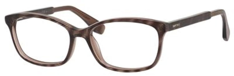0a715b384431 Jimmy Choo Plastic Rectangular Eyeglasses 53 0LY6 Striped Glitter Brown at  Amazon Women s Clothing store