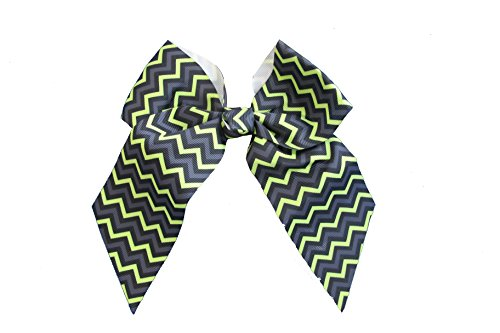 - EMC Sports Large Bow, Lime Chevron, One Size fits All