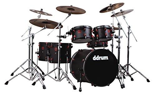 (ddrum HYBRID6BLKRED Electronic Drum Set Natural)