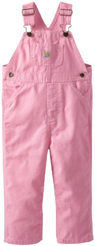 Carhartt Little Girls' Washed Miscrosanded Canvas Bib Overall