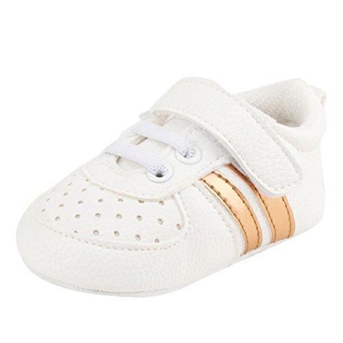 Hunpta Kleinkind Mädchen Jungen Krippe Schuhe Prewalker Soft Sohle Sneakers Gelb