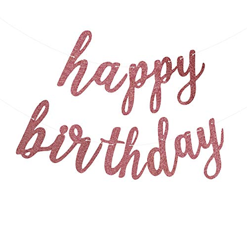 Fecedy Happ Birthday Alphabet Banner for Birthday Party Decorations