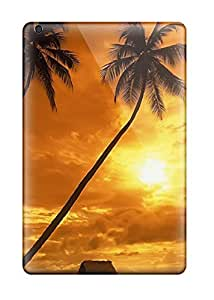 Fashionable Style Case Cover Skin For Ipad Mini/mini 2- Couche De Soleil Beautiful Summer View Palm Trees Beach Nature Other