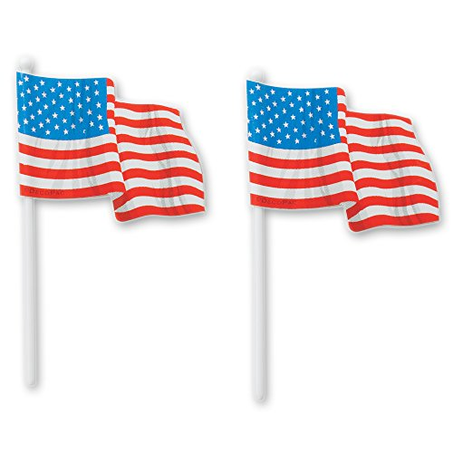 DecoPac American Flag DecoPic Cupcake Picks (12 Count)