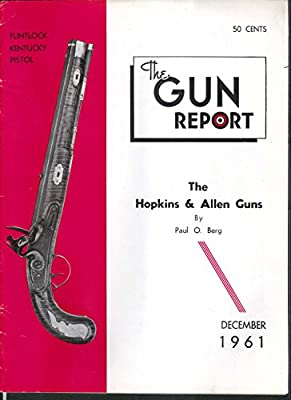 GUN REPORT Hopkins Allen Kentucky Flintlock Pistol Smith Gallager Hall 12 1961