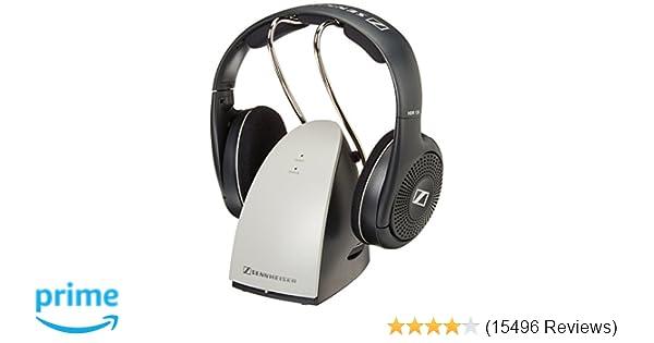 b9da3f57137 Amazon.com: Sennheiser RS120 On-Ear Wireless RF Headphones with Charging  Cradle: Sennheiser: Home Audio & Theater