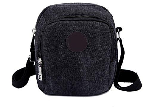 Männer Und Frauen Vintage-Canvas Schulter- Messenger Taschen Laptop Sling Tasche Hochschule,D-OneSize