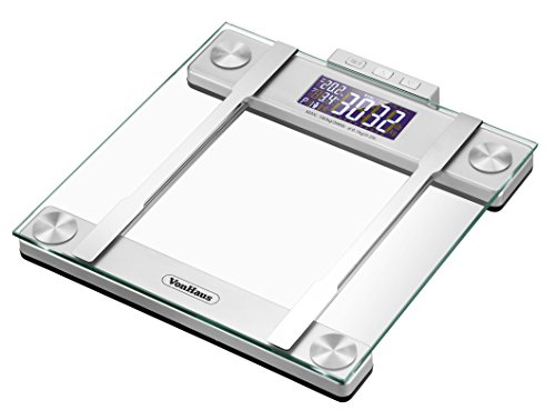 Vonhaus Body Fat Scale Bmi Weight Scale With Body Composition Analyser Hydration Monitor