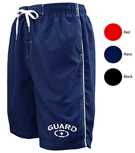 Adoretex Mens Guard Swimsuit Board Shorts Swim Trunks Mesh Liner - MG001 - Navy - M