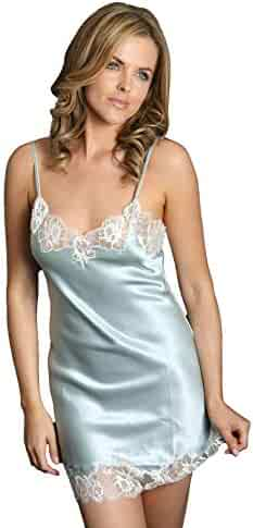 a66a4f69f866 Silk Cocoon Women Nighties Chemise Lace Trim Pure Silk B28