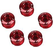 Zivisk 5PCS Single/Double Chainring Bolts 7075 Aluminum Alloy M8 Crankset Double Chainwheel Bolts & Nuts D