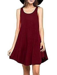 Womens Stretchy Flowy Long Sleeve Tunic Dress