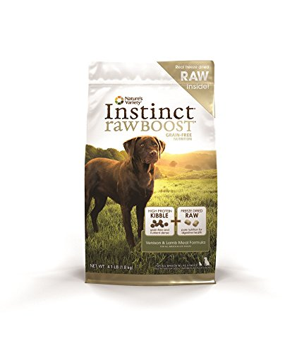 Nature's Variety Instinct Raw Boost Grain Free Venison & Lamb Meal Formula Dry Dog Food, 4.1 lb. Bag