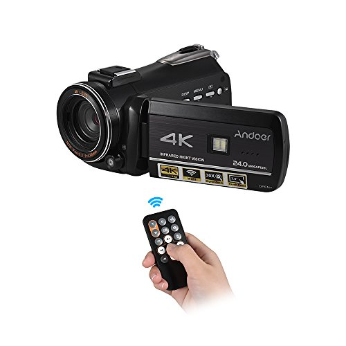 Andoer AC3 4K UHD 24MP Digital Video Camera Camcorder Record