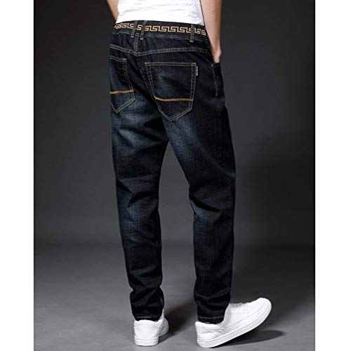 Dritti Casual Fit Di Da Denim Uomo Slim Skinny Jeans Stretch In Nero Giovane Pantaloni Base qpT7z8w8