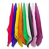 Enjoyer Magic Silk handkerchief Magician Juggling Scarf Color Change Scarves Magic Tricks Stage Magic Props Classic Magia Toys Gadgets 5PCS (15*15CM)