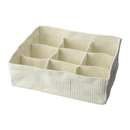 IKEA KOMPLEMENT - compartimentos de almacenamiento, de tela, blanco - 46 x 56 x