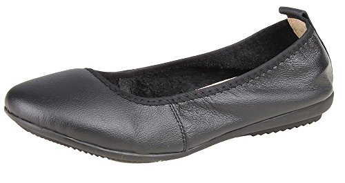 Kunsto Women's Genuine Leather Loafer Ballet Flats US Size 9 (Girls Leather Ballet Flats)