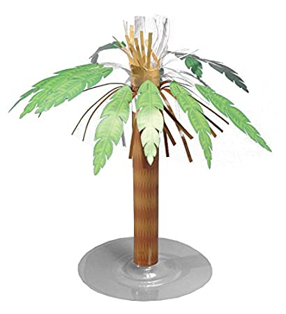 amazon com creative converting paper palm tree centerpiece kitchen rh amazon com palm tree centerpieces for baby shower palm tree centerpiece with pineapples