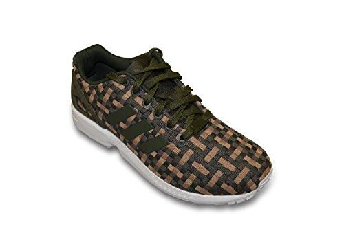quality design 2e565 46165 Adidas Mens - ZX Flux - Green Brown - S78348 (UK 7.5 ...