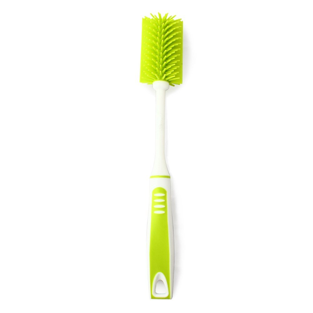 Nature Worship Extended Cup Cleaning Brush, Long Handle Nano Bottle Brush,Green