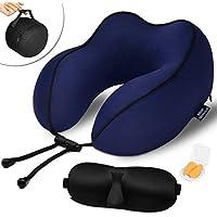 QAHEART 100% Pure Memory Foam Breathable & Comfortable Neck Pillow