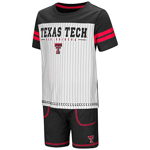 (Colosseum Toddler Texas Tech Red Raiders Pinstripe Tee Shirt and Shorts Set -)