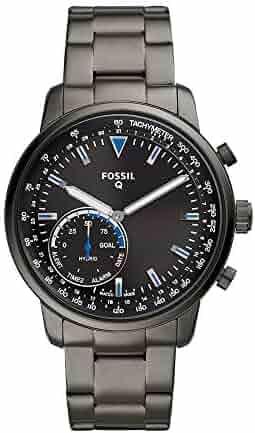 Fossil Men's Goodwin Stainless Steel Hybrid Smartwatch, Color: Smoke Grey (Model: FTW1174)