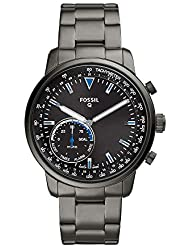 Fossil Men's Goodwin Stainless Steel Hybrid Smartwatch, Color: Smoke Grey (Model: FTW1174)