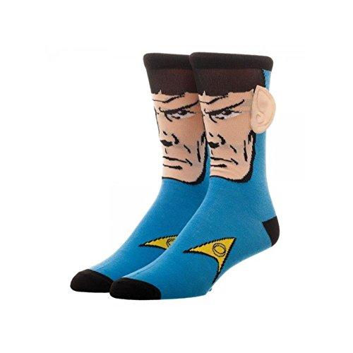 Star Trek Spock Crew Socks With Ears W Gift Box By Superheroes Brand