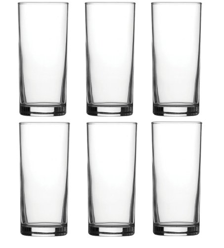 Water Traditional Drinking (Traditional Tumbler Hiball Glasses - Pack of 6 Glasses - 285ml / 10oz)