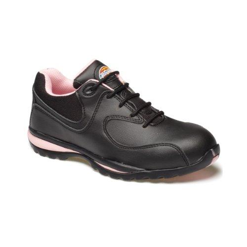 DickiesOhio - Zapatos de Seguridad Mujer, color Multicolor, talla 37 Multicolor - Mehrfarbig - Schwarz/Rosa