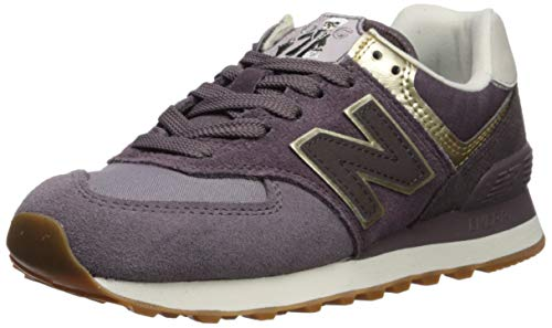 New Balance Women's 574v2 Sneaker, Dark Cashmere/Light Gold, 12 B US