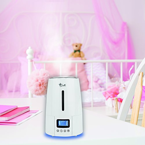 Stella Ultrasonic Humidifier - Cool Mist Premium Humidifying, Whisper Quiet Home Aroma Diffuser, 3 Liter, Digital, Timer and Night Light.